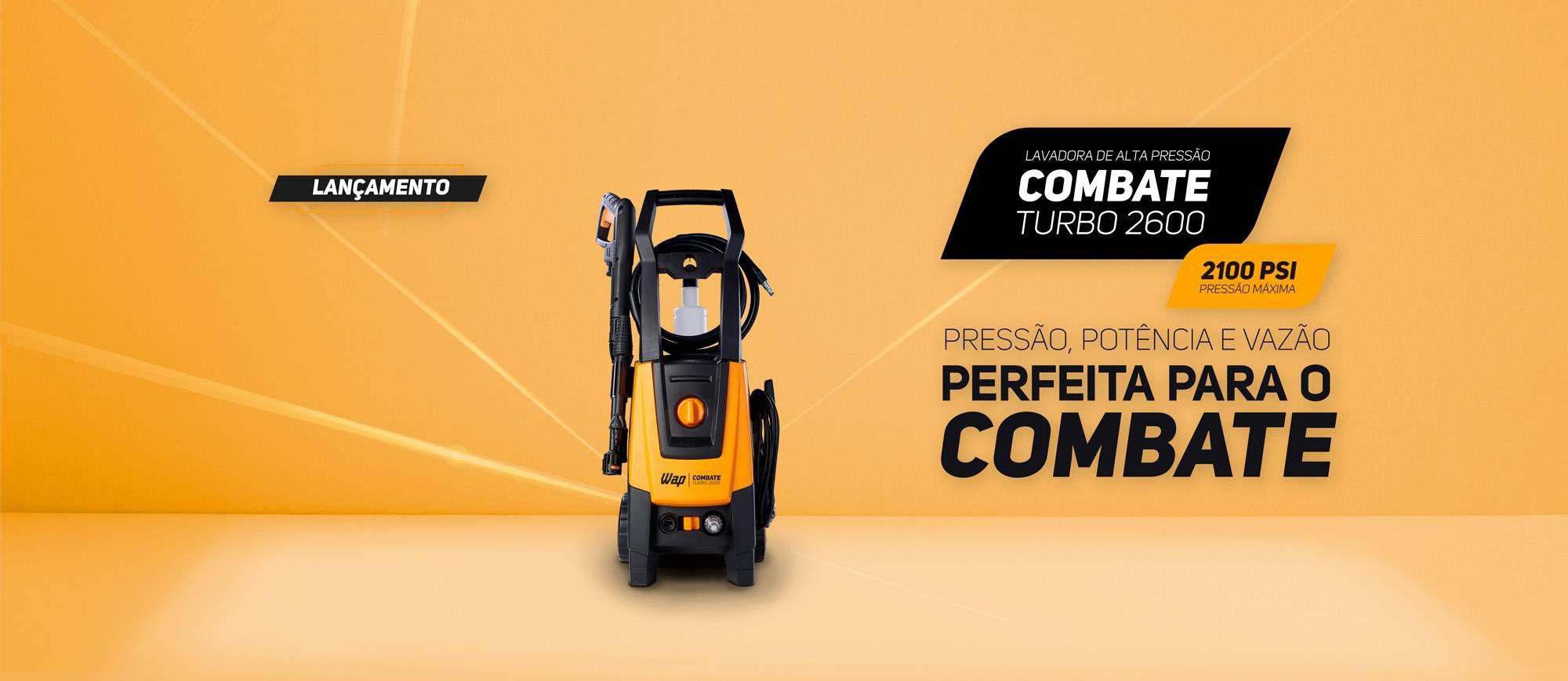 lavadora de alta pressão WAP Combate Turbo 2600